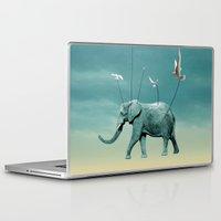 elephant Laptop & iPad Skins featuring elephant by mark ashkenazi
