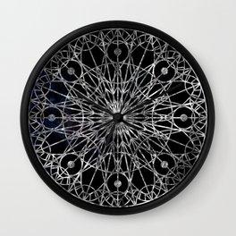 Rosette Window - Black Wall Clock