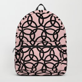 Olympica Black on Blush Backpack