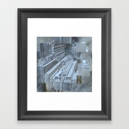 Apollonian gasket with cuboids Framed Art Print