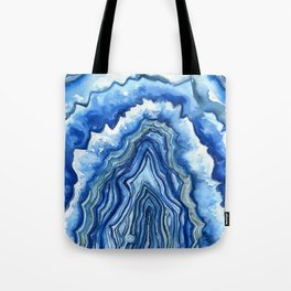 Blue Geode Tote Bag