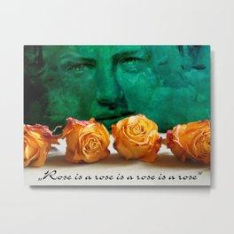 ROSE - quote Metal Print