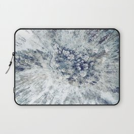 AERIAL. Frozen forest in winter Laptop Sleeve