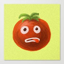 Funny Cartoon Tomato Canvas Print