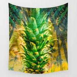 Stand Tall, Green Pineapple Wall Tapestry
