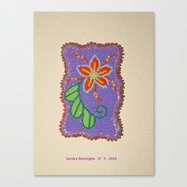 Daisy Flower Beaded Medallion 2 Canvas Print