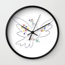 Picasso's Dove Wall Clock