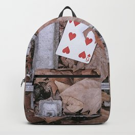 Playing card on the street Backpack