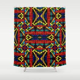 Glass Mosaic Shower Curtain