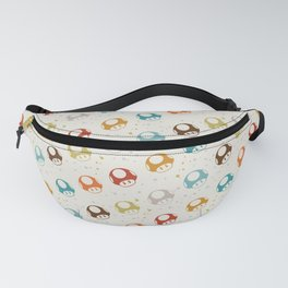 Mushrooms in brown and blue Fanny Pack