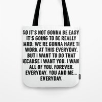 notebook Tote Bags featuring The Notebook. by S J A E