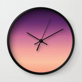Sunset in the Desert Wall Clock
