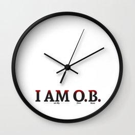 I AM O.B. Wall Clock