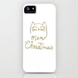 Meow Christmas- Merry Chrismtmas iPhone Case