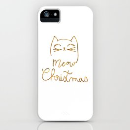 Meow Christmas- Merry Chrismtmas iPhone Case