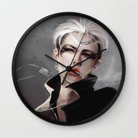 exo Wall Clocks featuring Assassin v2 by lulumayo