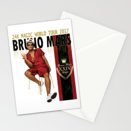 BRUNOMARS 24K MAGIC WORLD TOUR 2017 Stationery Cards