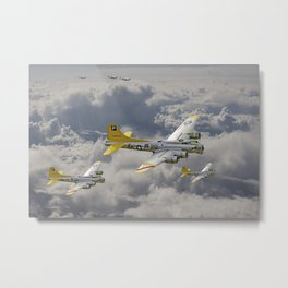 B17- 487th BG en route Metal Print