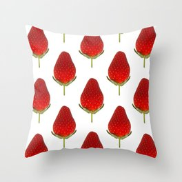 It's Strawberry Time Throw Pillow