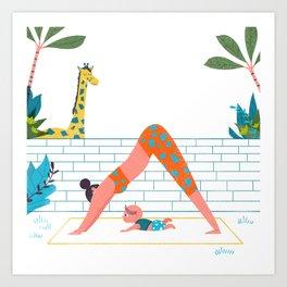 in a yoga state of mind Art Print