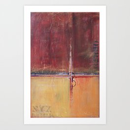 Cargo - Textured Abstract Painting - Red, Gold and Copper Art Art Print