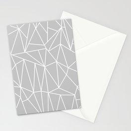 Geometric Cobweb (White & Gray Pattern) Stationery Cards