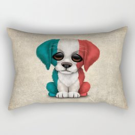 Cute Puppy Dog with flag of France Rectangular Pillow