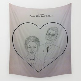 In Memory of President & Mrs. Ronald W. Reagan Wall Tapestry