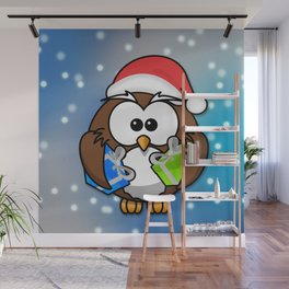 Christmasowl Wall Mural