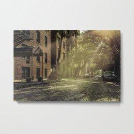 City street, downtown, Manhattan, New York (2020-6-GNY173) Metal Print