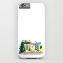 Bar Cafe Caffe in Trastevere in Rome hand-painted watercolor sketch iPhone Case