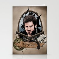 captain hook Stationery Cards featuring Captain Hook by artbymurrl