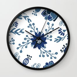Porcelain Flowers Wall Clock