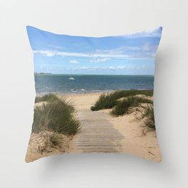 Breezy Seaside Path Throw Pillow