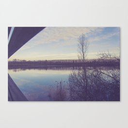 A perspective on the lake Canvas Print