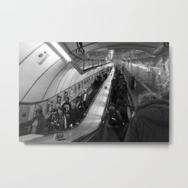 faceless escalators Metal Print