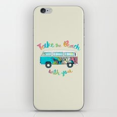 Take The Beach With You iPhone & iPod Skin