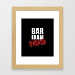 Bar Exam Passed Framed Art Print