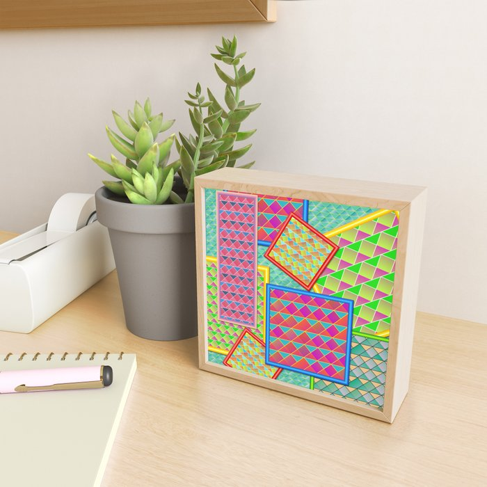 Framed patterns Framed Mini Art Print