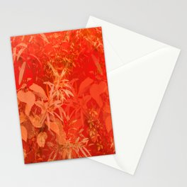 Beautiful red foliages - illustration of garden Stationery Cards