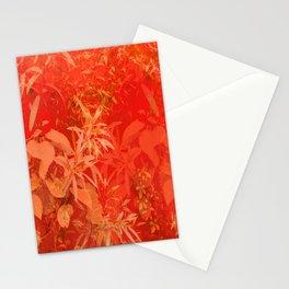 Beautiful red foliages - illustration of garden #decor #society6 #buyart Stationery Cards