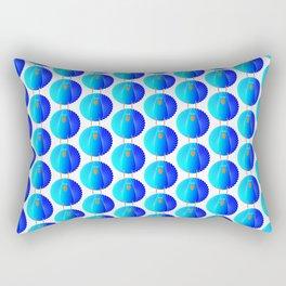 Blue Wild Turkey Rectangular Pillow