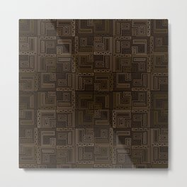 Seamless geometric square patterns in Egypt style Metal Print