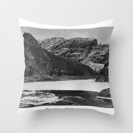 A Bulge in the Ice at Hell Gate on the Columbia River  Throw Pillow