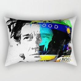 Ayrton Senna do Brasil - White & Color Series #4 Rectangular Pillow