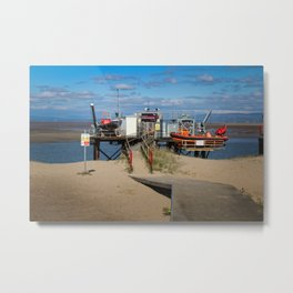 River Wyre Launching Facility - Fleetwood - England Metal Print