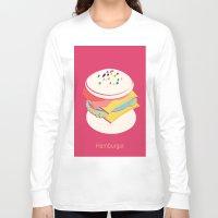 hamburger Long Sleeve T-shirts featuring Hamburger by Haina