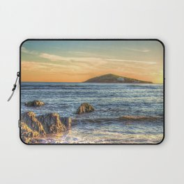 Sunset over Burgh Island from Bantham Laptop Sleeve