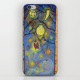Touching the Light: One Danced with the Fireflies Illumination Print iPhone Skin