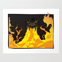 dungeons and dragons Art Prints featuring DUNGEONS & DRAGONS - INTRO by Zorio